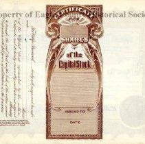 Image of Verso, Schumm Stock Certificate