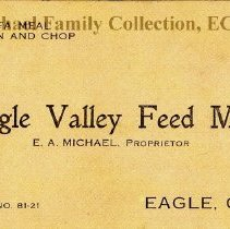 Image of Eagle Valley Feed Mill business card