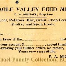 Image of Eagle Valley Feed Mill invoice