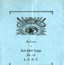 Image of By-Laws of Red Cliff Lodge No. 18, I.O.O.F. 1920