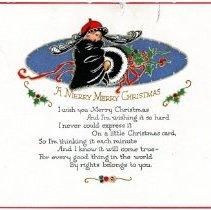 Image of Christmas card circa 1930s