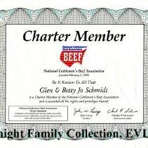 Image of NCBA charter membership certificate