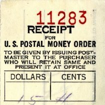 Image of Receipt for money order