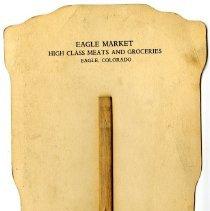 Image of Eagle Market advertising fan