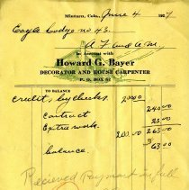 Image of Receipt, Howard G. Bayer, Minturn, Colo.