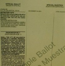 Image of 2003.08.1 - Sample Ballot For Special Election, Dece