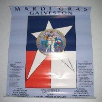 Image of 2007.011 - Mardi Gras Galveston Poster