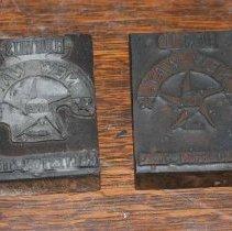 Image of 2009.001.123,124 - Texas Star Flour Mills Printing Blocks