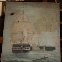 Image of 2009.031 - Painting, Battle Between Two Vessels