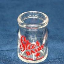 Image of 2009.069 - Glass Creamer Bottle, Star Dairy