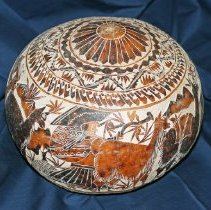 Image of 2010.002 - Carved Peruvian Gourd