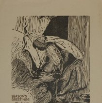 Image of 2012.033.14 - Woodcut Greeting Card