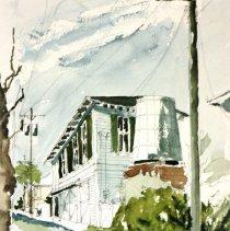 Image of 2012.043.10 - Watercolor sketch