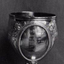 Image of 67.67 - Silver Presentation  Loving Cup Or Kiddu