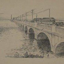 Image of 74.087 - Old Galveston Causeway, Ca. 1935
