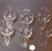 Image of 74.124.1-6 - Lalique Wine Or Cognac Glasses