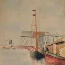 Image of 76.117.5 - Galveston Wharf Looking East Toward Elev