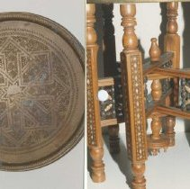 Image of 77.507.1,2 - Table and Brass Tray