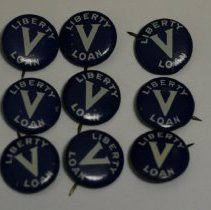 Image of 79.152.1-9 - Souvenir Buttons From Liberty Loan