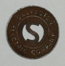 Image of 79.203.2 - Metal Token: Galveston Electric Co.