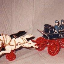 Image of 80.063 - Iron Toy, Police Patrol Wagon