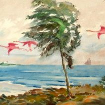 Image of 81.057.95 - Flamingoes in Flight