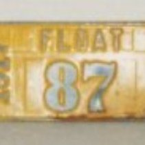 Image of 85.003.1.a-e - Parade Float License Plate