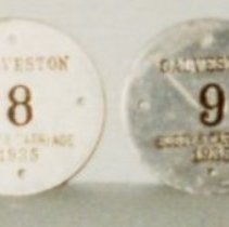 Image of 85.003.4d,e - Buggy and Carriage Tags