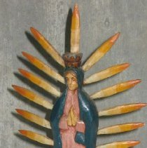 Image of 86.044.18 - Our Lady of Guadalupe Wooden Figure