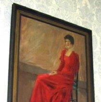 Image of 86.053.6 - Girl in Red Velvet Dress
