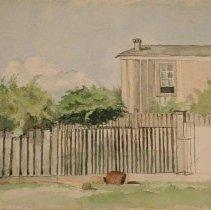 Image of 90.012.16 - Galveston Backyard Scene