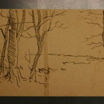 Image of 90.031.199 - Sketch of Trees and Clouds