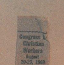 Image of 91.015.2a,c - Ribbon Badge; Avenue L Baptist Church