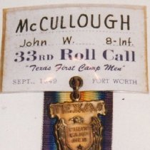 Image of 96.004.2 - Convention Badges; Texas First Camp Men