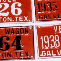 Image of 98.034.13 - Two Horse Wagon License Plate