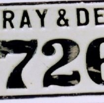 Image of 98.034.2 - Dray and Delivery License Plate