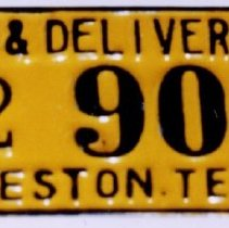Image of 98.034.7 - Dray and Delivery License Plate