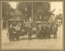 Image of First Motor Driven Fire Truck, 1919, Sycamore, Illinois - Photograph