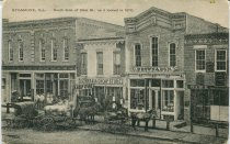 Image of Postcard - South side of State Street, 1870