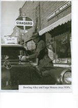 Image of Bowling Alley and Fargo Motors - Photograph
