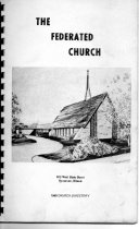 Image of Book, Reference - Federated Church directory of 1968