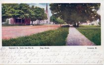 Image of Postcard - Somonauk St., Congregational Church