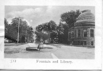 Image of Postcard - Fountain and Library