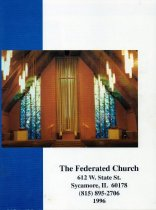 Image of Pamphlet - Federated Church directory of 1996