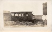 Image of Postcard - Freight & Baggage rail truck