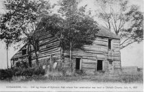 Image of Log house of Ephraim Hall
