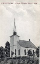 Image of Postcard - Wesleyan Methodist Church in 1870, Sycamore, ILL.