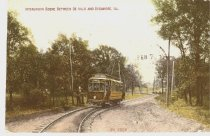 Image of Postcard - Interurban between DeKalb and Sycamore