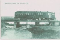 Image of Postcard - Woodstock & Sycamore Traction Co interurban
