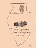Image of Book - DeKalb County Courthouse Index to Death Register 1 1878-1903.